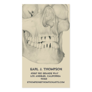 Skull or Teeth Business or Name Card Business Card Templates