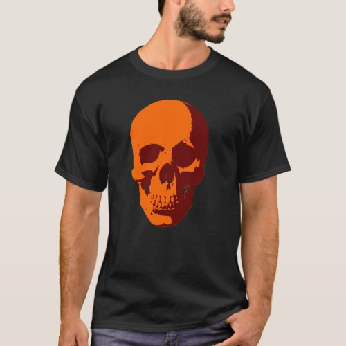 skull orange T-Shirt Sales