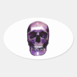 Skull Oval Sticker