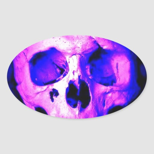 Skull Oval Stickers
