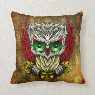 Skull Owl Pillah Throw Pillow