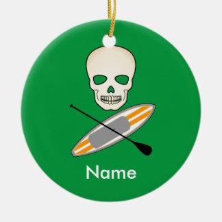 Skull & Paddleboard Ceramic Ornament
