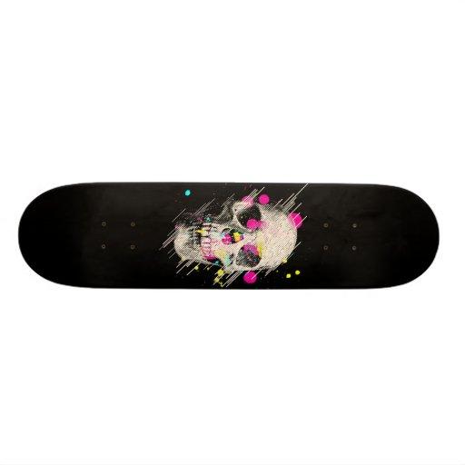Skull paint skateboard deck zazzle for Best paint for skateboard decks