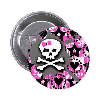 Skull Paint Splatter Button