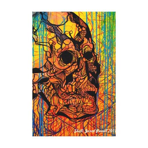 Skull Painting Jared Powell Canvas Print