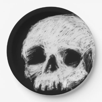 Skull Paper Plate