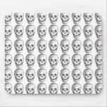 Skull Pattern. Black and White. Mouse Pads