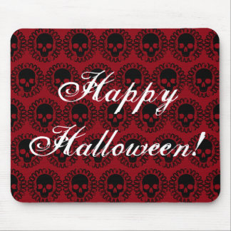 Skull Pattern Elegant Fun Halloween Goth Any Color Mouse Pad