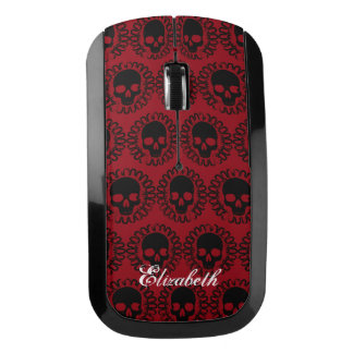 Skull Pattern Elegant Fun Halloween Goth Any Color Wireless Mouse