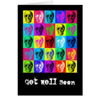 Skull Pattern Get Well Soon Card