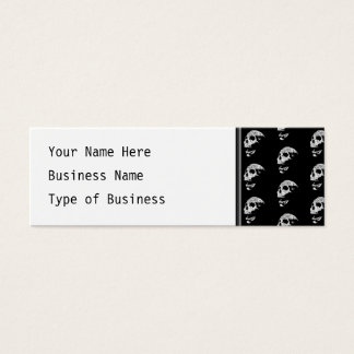 Skull Pattern in Black and White. Mini Business Card