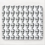 Skull Pattern in Black and White. Mouse Pads