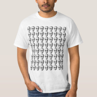 Skull Pattern in Black and White. T-Shirt