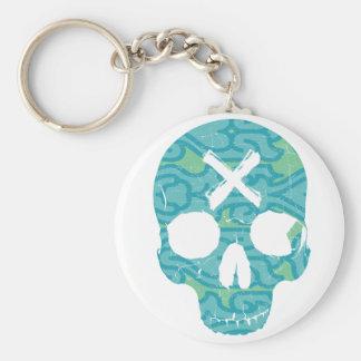 Skull Pattern Keychain
