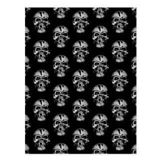 Skull Pattern Postcard