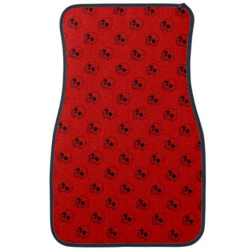 Skull Pattern Red Colored Auto Floor Mats Floor Mat Zazzle