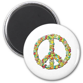 SKULL PEACE MAGNET