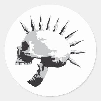 skull pegatina redonda