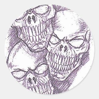 Skull Pencil Sketch Sticker