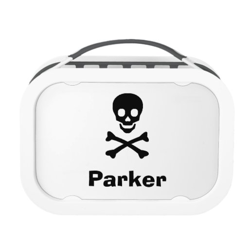 Skull personalized lunch box set zazzle for Decor 8 piece lunch set