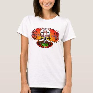 Skull Phoenix white, CymbaLyk Laser Symbol Bann... T-Shirt