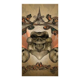 Skull Customized Photo Card