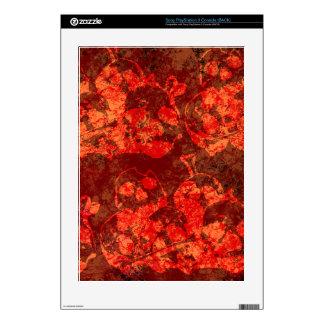 Skull Pile Fire Grunge PS3 Skin