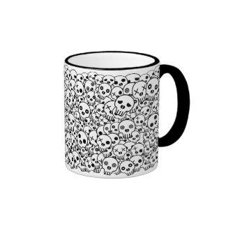 Skull Pile Coffee Mugs
