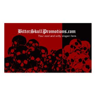 Skull Pile Split Business Cards