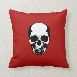 Skull Pillow - Ivory & Artery