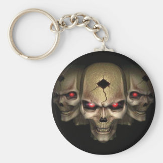 skull pin keychain