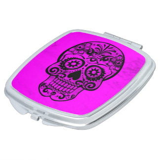 Skull,pink 04 makeup mirror