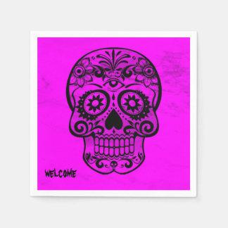 Skull,pink 04 paper napkin