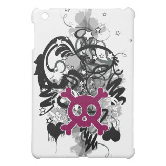 skull pink cover for the iPad mini
