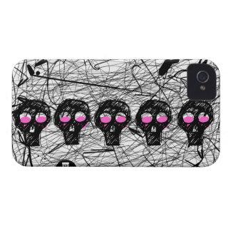 Skull Pink Eyes Scratch iPhone 4 Case-Mate Case