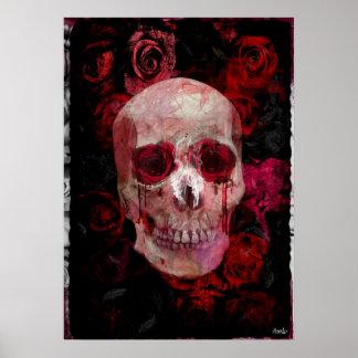 Skull' Pink Poster
