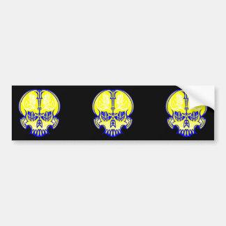 Skull Pinstriping Car Bumper Sticker