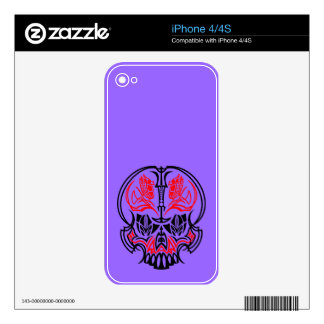 Skull Pinstriping Decal For The iPhone 4S