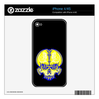 Skull Pinstriping iPhone 4 Decal
