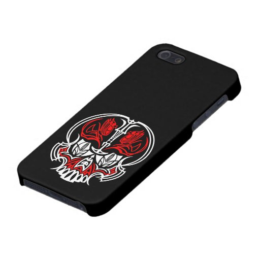 Skull Pinstriping Case For iPhone 5