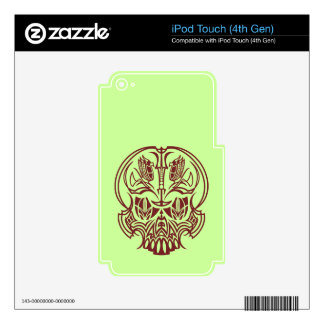 Skull Pinstriping iPod Touch 4G Skin
