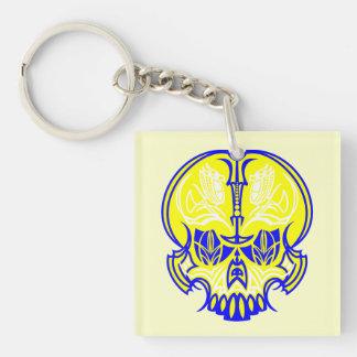 Skull Pinstriping Keychain
