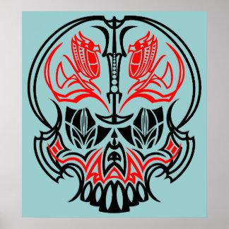 Skull Pinstriping Poster