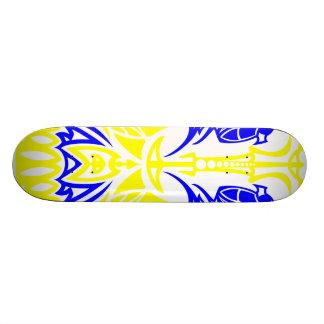 Skull Pinstriping Skateboard
