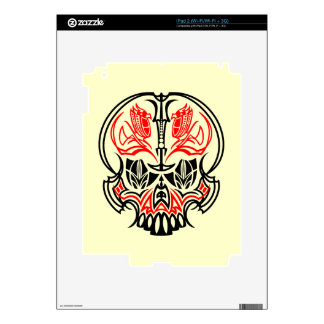 Skull Pinstriping Skin For iPad 2