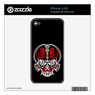 Skull Pinstriping Skin For The iPhone 4