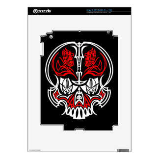 Skull Pinstriping Skins For The iPad 2