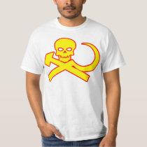 Skull Pirate Communist T Shirt