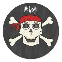 Skull Pirate Envelope Seal