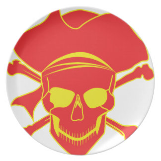 Skull Pirate Party Plate